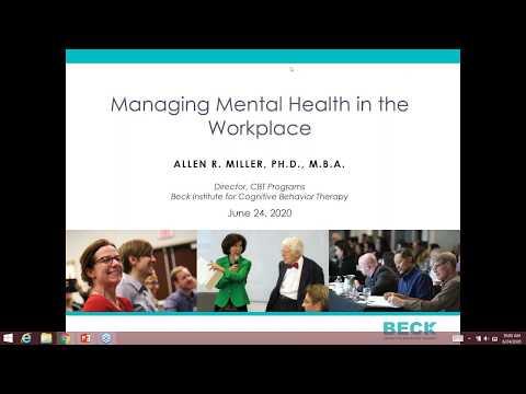 Managing Mental Health in the Workplace: 1-Hour Webinar