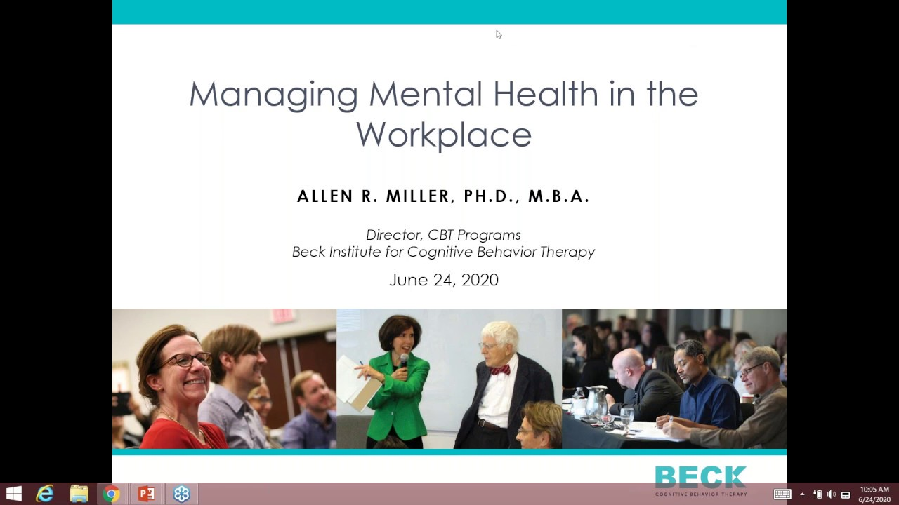 Managing Mental Health in the Workplace: 1-Hour Webinar