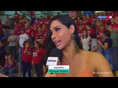 Volleyball Player Jaqueline Carvalho Faints on Live Interview