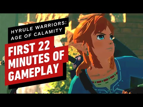 The First 22 Minutes Of Hyrule Warriors Age Of Calamity Gameplay Youtube