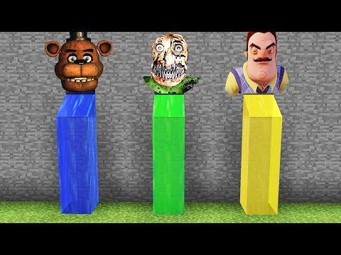 Minecraft : DO NOT CHOOSE THE WRONG WATERFALL(BALDI BASICS NIGHTMARE, HELLO NEIGHBOUR, FNAF(PE/MCPE)