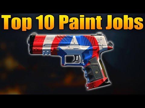 Top 10 Paint Jobs in Black Ops 4 (BO4 Best Camos Ep. 5)