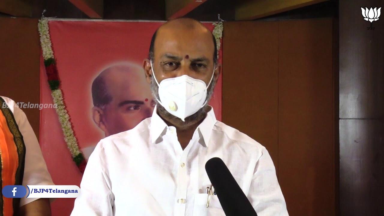 Shyama Prasad Mukherjee Birth Anniversary program at BJP Telangana Office //06-07-2020