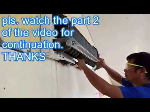 Aircon Cleaning LG Split Type Inverter Part 1