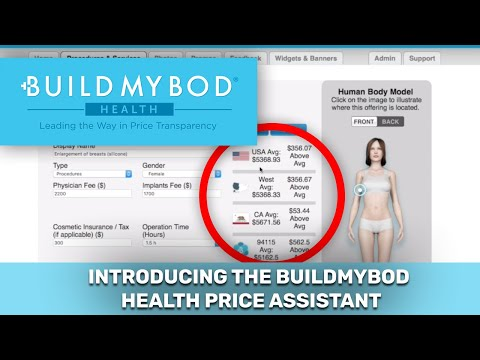 BuildMyBod Health Pricing Assistant: Price Transparency for Providers!