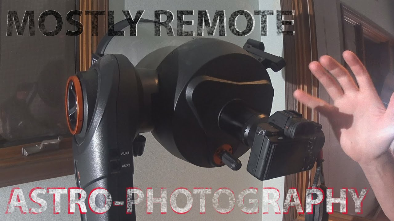 Remote Astro-photography Setup - Sony Alpha A7r2 - Celestron 8 U0026quot  Nextstar Evo
