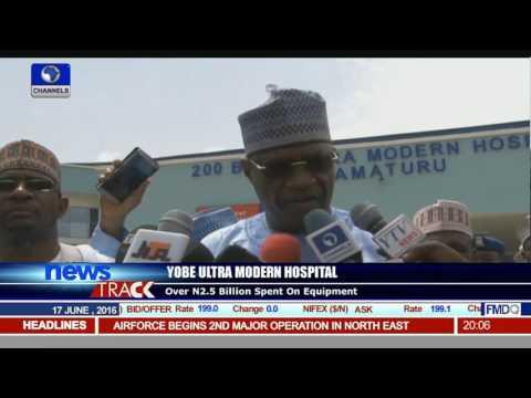 Ibrahim Gaidam Inspects Yobe Ultra Modern Hospital