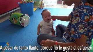Terapia fisica bebe 6 meses con sindrome de Down