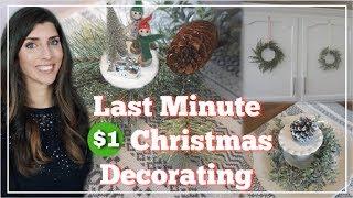 Dollar Christmas Decorating Ideas   Dollar Tree & Target $1 Spot Decor   Momma From Scratch