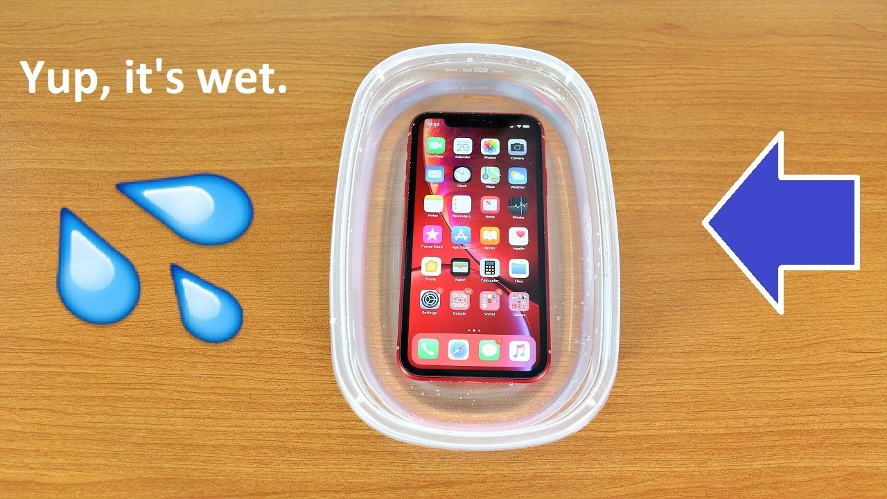 sports shoes 73b35 b9402 iPhone XR Water Test - Is It Water Resistant?