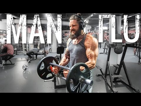 MAN FLU CAN SUCK IT! Back Biceps & Hamstring Training Tutorial
