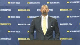 Juwan Howard cries tears of joy as he's introduced as new Michigan basketball coach