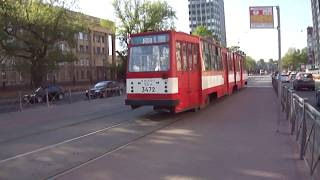 Трамвай Санкт-Петербурга 245: ЛВС-86К б.3472 по №20 (25.05.12)