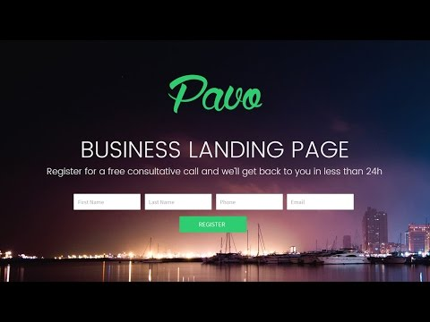 How to Make a Landing Page for Your Business Using Pavo HTML Template
