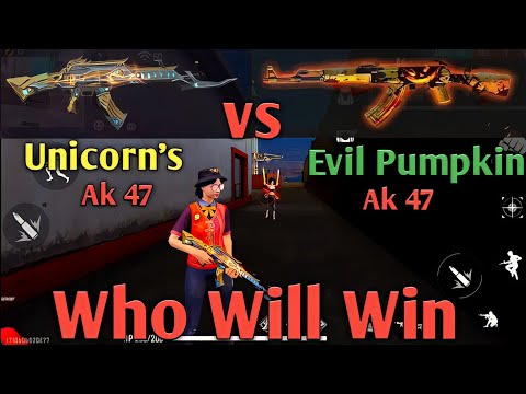 Unicorns Ak vs Evil Pumpking Ak | Which is more Powerful ? | #Support #shorts #FreeFire