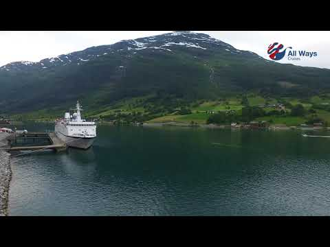 All Ways Cruises, MS Berlin drone fjord