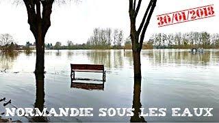 Enormes inondations le long de la Seine en Normandie
