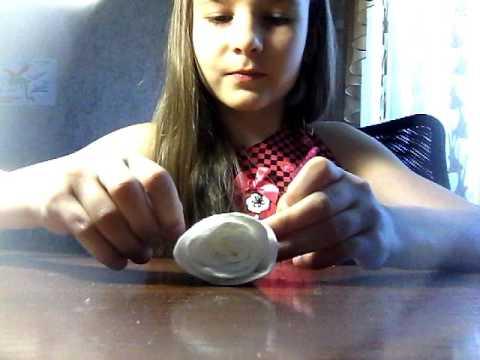 Как сделать розу из ватных дисков