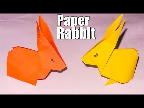 Easy Origami Paper Rabbit-How to make an Origami Paper Rabbit|How To Make Origami Paper Animals