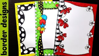 Zenart Border designs on paper border designs project work designs borders for projects