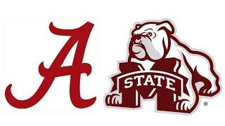 2015 #2 Alabama at #17 Mississippi State (Highlights)