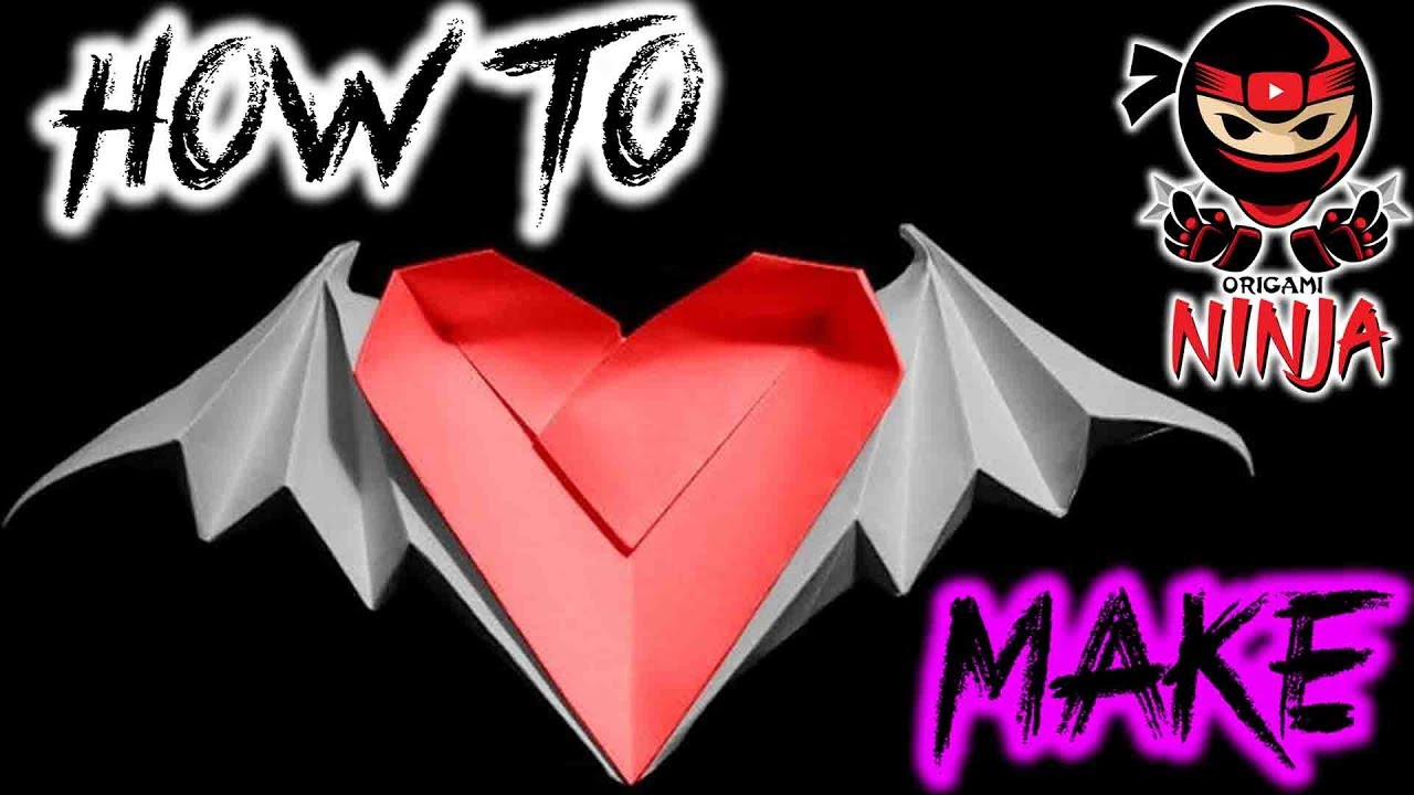 How to Make Paper Heart with Wings Instructions | easy origami ... | 720x1280