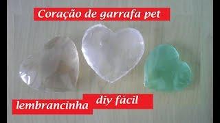 Coração de garrafa pet FÁCIL – lembrancinha, aniversario – Reciclagem