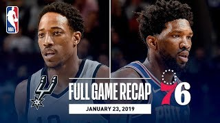 Full Game Recap: Spurs vs 76ers   SAS & PHI Go Down To The Wire!