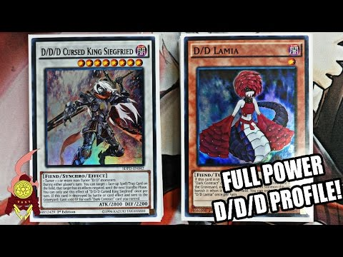 *YUGIOH* BEST! D/D/D DECK PROFILE! POST PENDULUM DOMINATION! FULL POWERED Ft. D/D/D DAVE! EPIC 2017