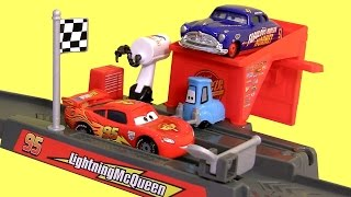 Cars Piston Cup Pit Stop Launcher Play & Race Story Sets New 2015 DisneyPixarCars