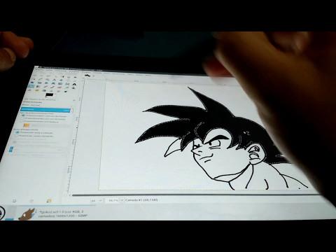 Desenho: openSUSE Linux com Pen stylus no 2 em 1 Yoga 260