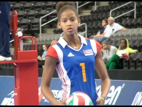 Melissa Vargas (13 Year Old Volleyball Phenom For Cuba National Team)