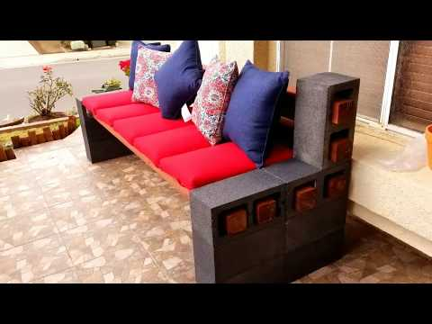 cinder-block-bench-set