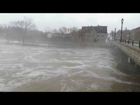 Flooding at St  Marys, Ontario