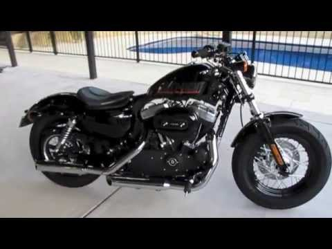48 Sportster with Mustang Cyclone Solo Seat and HD Black LED Headlight