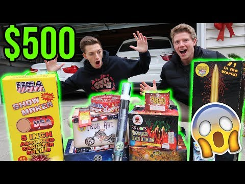 SPENDING $500 ON FIREWORKS FOR NEW YEARS EVE! - New Years Eve 2017/2018