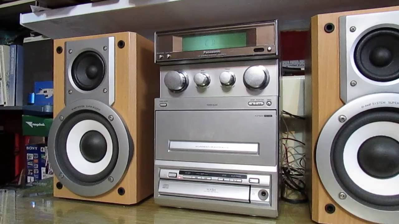 Panasonic Cd Stereo System Sa Pm15 With Speakers