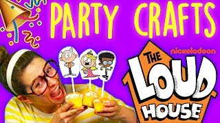 The Loud House Party Poppers & Cupcake Toppers! Birthday Party DIY | Arts & Crafts w/ Crafty Carol
