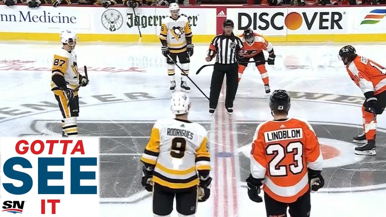 Watch as NHL referee Kelly Sutherland welcomes fans to 2021 season with speech before opening faceoff as the game between the Philadelphia Flyers and Pittsbu...
