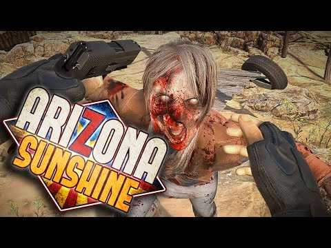VR ZOMBIES ARE SCARY! - Arizona Sunshine (HTC VIVE Funny Moments #1) |