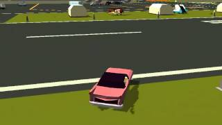 Pako car chase simulator Cadillac at the airport