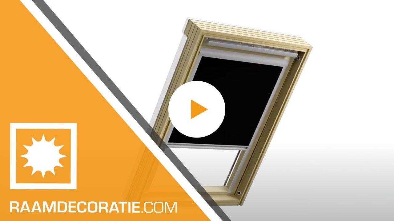 Wonderlijk Montagevideo Dakraam rolgordijn Smart - Raamdecoratie.com - YouTube OI-31