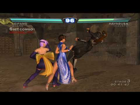 [ DEAD OR ALIVE 3 ] Tag Time Attack with Leifang (Cos.1 X button) and Ayane (Cos.2)