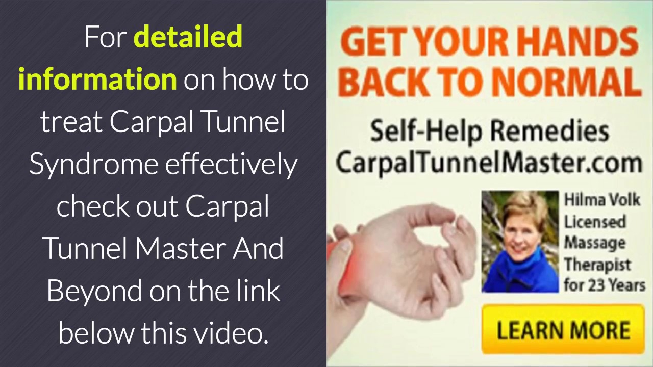Carpal Tunnel Syndrome A Secondary Effect - Carpal Tunnel Master'S ...