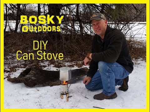 DIY wood burning can stove for back packing and camping