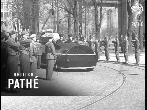 Funeral Of Crown Princess Martha Of Norway (1954)