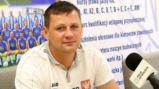 Trener Marcin Truszkowski o meczu z Pogonią II Siedlce