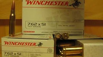 7.62x51 NATO 147 Grain FMJ Winchester Q3130 Mil-Spec Ammo at SGAmmo.com