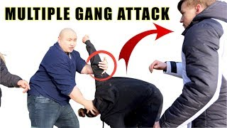 How to defend against a multiple gang attack