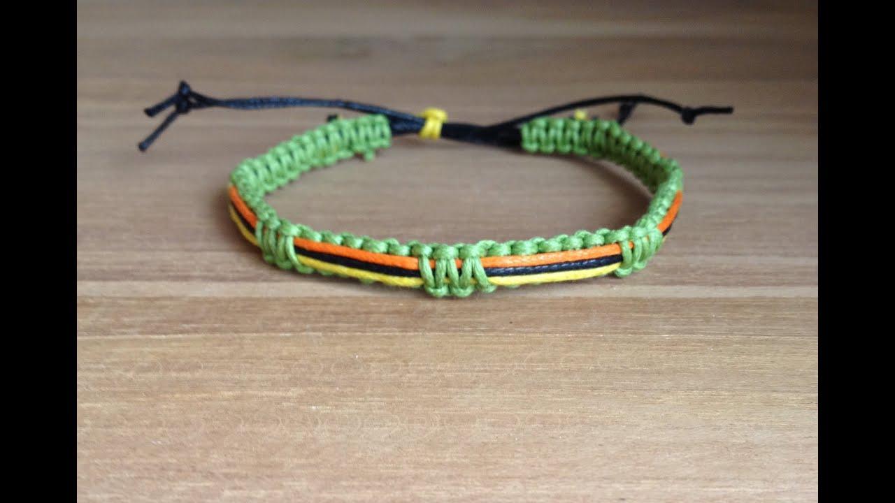 tutoriel diy comment faire un bracelet br silien unisexe macram 4 couleurs youtube. Black Bedroom Furniture Sets. Home Design Ideas